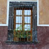 Mexican Window with Plant - 24x18 inches - 2007